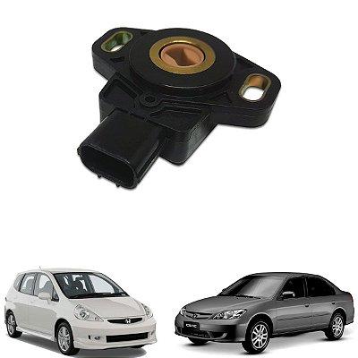 Sensor Borboleta Honda Civic 1.7 2001/2005 Crv 2.4 2002/2006 Fit 1.4 1.5 2003 A 2008 Civic 1.7