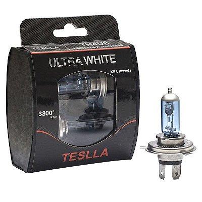 Kit Par Lampada Super Branca H4 55w 12v Aprov pelo Inmetro