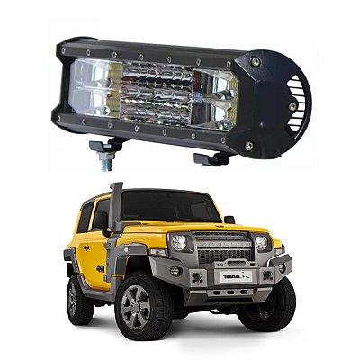 Farol Barra Milha Led 216w 7d 39cm Jeep Troller Caminhao 4x4