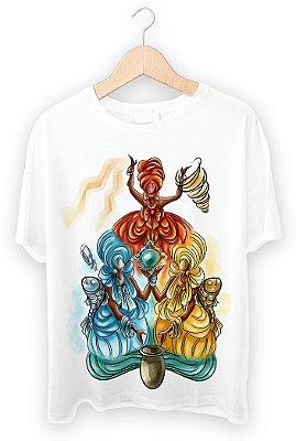 Camiseta Oxum, Iemanjá e Iansã
