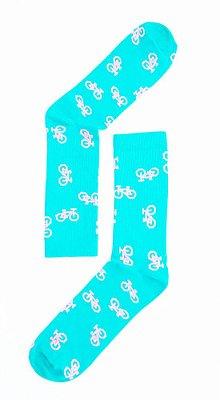 Meia Estampada Bicicleta