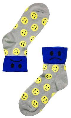Meia Estampada Supy Emoji