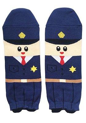 Meia Estampada Supy Policial