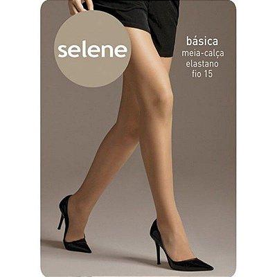 Meia Calça Fio 15 Com Elastano Básica Selene Natural - M
