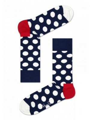 Meia Colorida Happy Socks Bolinhas Preto 33/40
