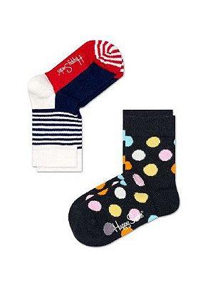 Kit Meia Infantil Happy Socks 25 ao 30