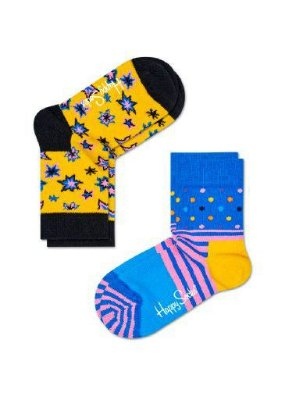 Kit Meia Infantil Happy Socks Amarelo 25 ao 30