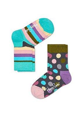 Kit Meia Infantil Happy Socks Colorida 25 ao 30