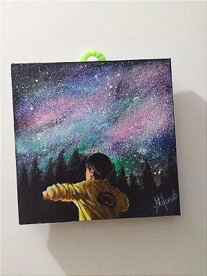 Quadro pintado a mão Jungkook Euphoria