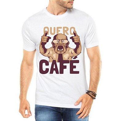 Camiseta Masculina Quero Café