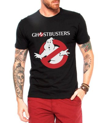 Camiseta Preta Masculina FILme Os Caça-Fantasmas