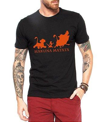 Camiseta Masculina Preta Hakuna Matata