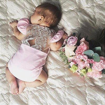 afe76117c951 Roupa Bebê Body Tule Princesa Festa Menina Top Importado - Me Baby Store