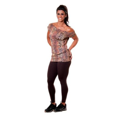 CAMISETA ANIMAL PRINT-MARRON