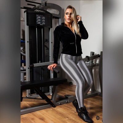 CALÇA LEGGING BLACK/WHITE