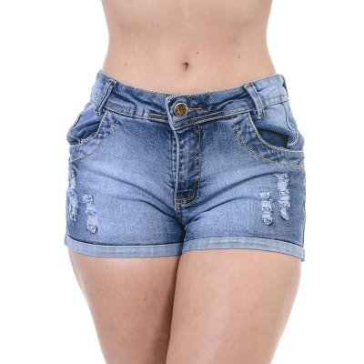 Short Jeans One  Destroyer  - 38 - Jeans - Destroyer c/ barra