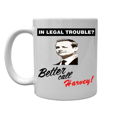 Caneca de porcelana Better Call Harvey
