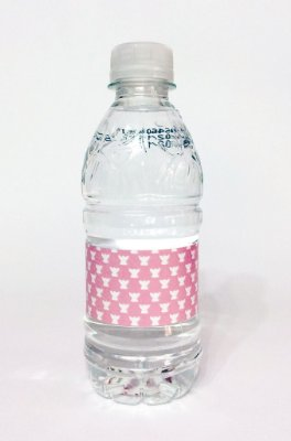 Rótulo de Água Batizado Azul ou Rosa - 10un