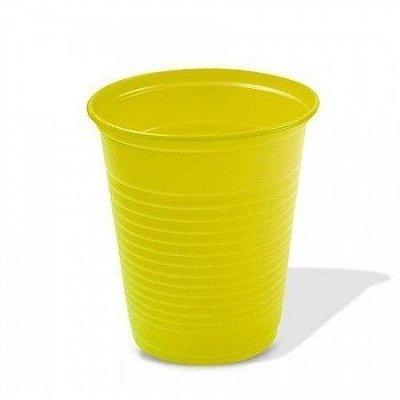 Copo Descartável Color 200ml Amarelo - 10 unidades