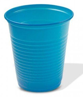 Copo Descartável Color 200ml Azul - 10 unidades