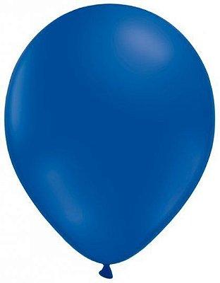 Balão número 9 Liso Azul - 10 unidades