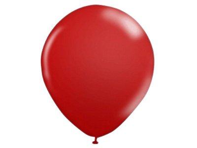 Balão número 9 Liso Vermelho - 10 unidades