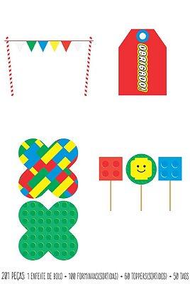 Kit Básico LEGO  211 peças- 50 convidados