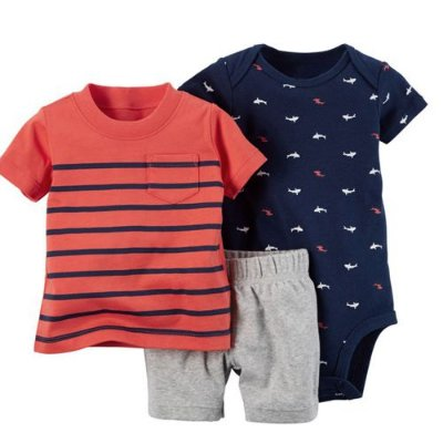 Conjunto Body Camisa e Bermuda Shark