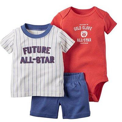 Conjunto Body Camisa e Bermuda ALL Star