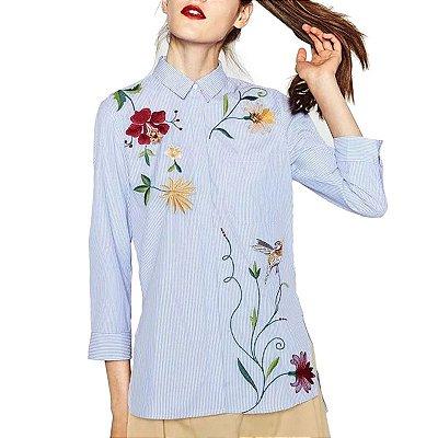 Camisa Decorada Floral