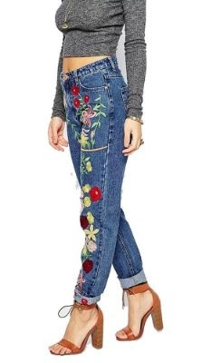 Calca Jeans com Bordados