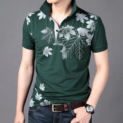 Camisa Poloo Casual Estampada