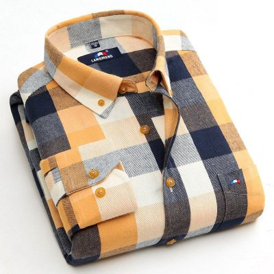 Camisa Social Xadrez Langmeng