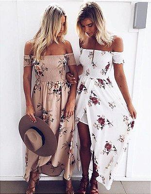 Vestido Boho Floral em Chiffon