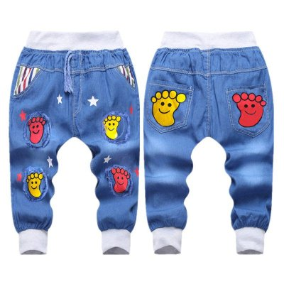 Calca Jeans Estampada