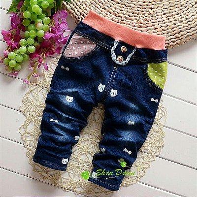 Calça Jeans Gatinha