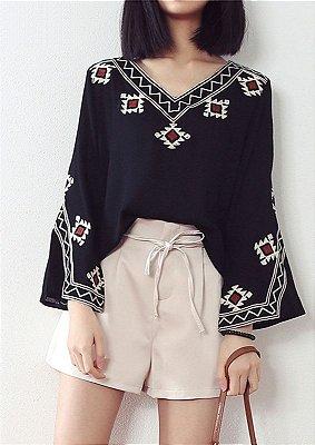 Camisa Bordado Etnico