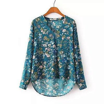 Camisa Elegante Floral
