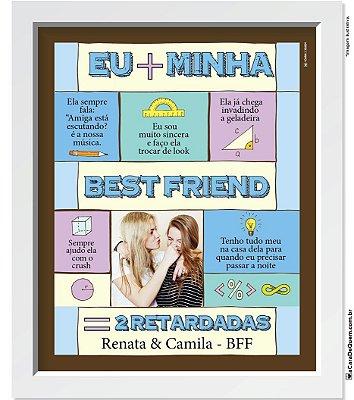 Quadro Personalizado Amiga - Soma Amizade