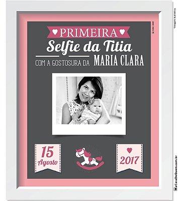 Quadro Personalizado Bebê - Selfie Menina