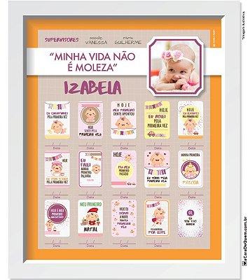 Quadro Personalizado Bebê - Evolução Menina