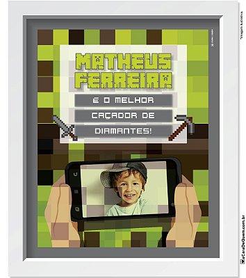 Quadro Personalizado Menino - Minecraft