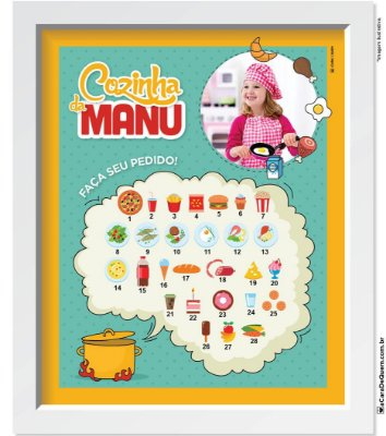 Quadro Personalizado Menina - Chef Mirim