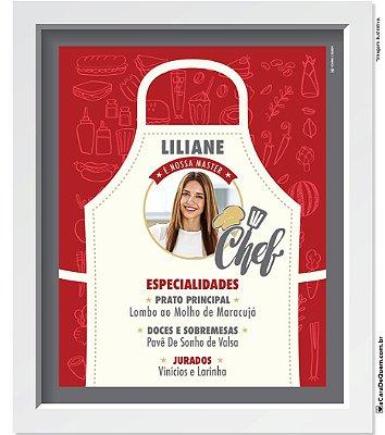 Quadro Personalizado Mulher - Master Chef