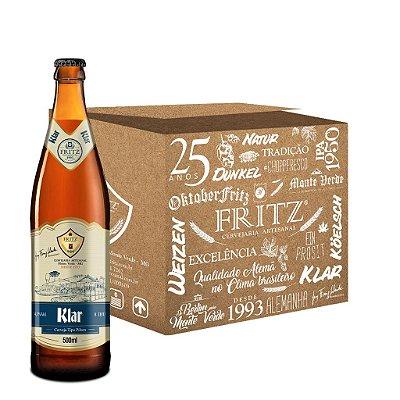 Cerveja Fritz Klar - 500ml - CAIXA 12 UNIDADES