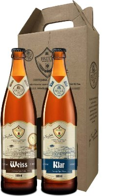 Pack 2 Cervejas Fritz - Weiss + Klar- 500ml