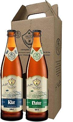 Pack 2 Cervejas Fritz - Klar + Natur - 500ml