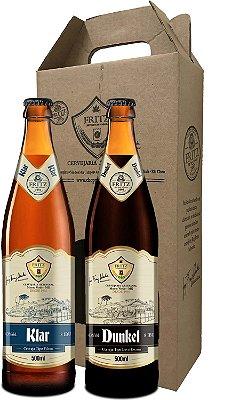 Pack 2 Cervejas Fritz - Klar + Dunkel - 500ml