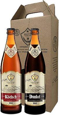 Pack 2 Cervejas Fritz - Köelsch + Dunkel - 500ml