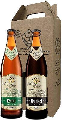 Pack 2 Cervejas Fritz - Natur + Dunkel - 500ml